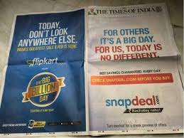 Flipkart vs snapdeal ambush marketing examples