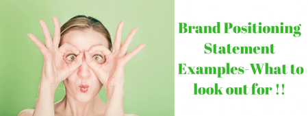 Brand positioning Statement example